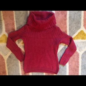 Banana republic fuchsia pink turtleneck sweater